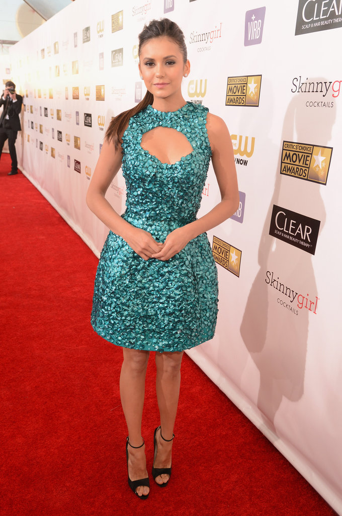 Nina Dobrev stepped out for the Critics' Choice Awards.