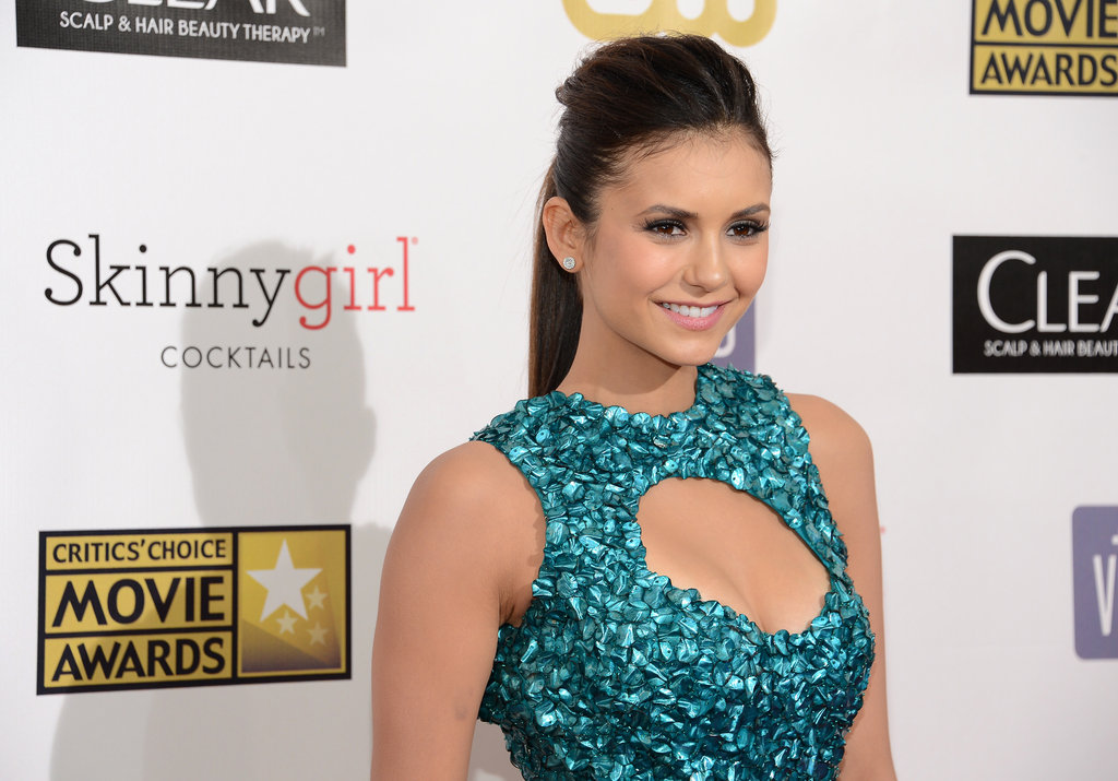 Nina Dobrev Supports Her Man in a Sexy Dress at Critics' Choice