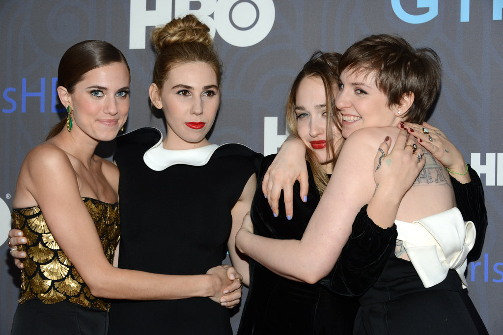 The girls of Girls got cute on the red carpet.