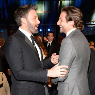 Bradley Cooper Mingling at 2013 Critics' Choice Awards