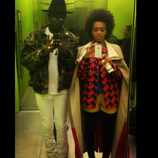 Solange knowles took selfies in an elevator with theophilus london let 39 s be social the week Theophilus london fashion style