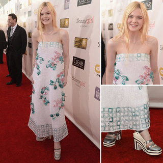 Elle Fanning at Critics' Choice Awards 2013