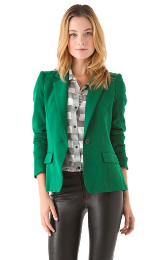 We say ditch your basic black blazer and opt for this green Alice + Olivia version ($184, originally $368) for a change.