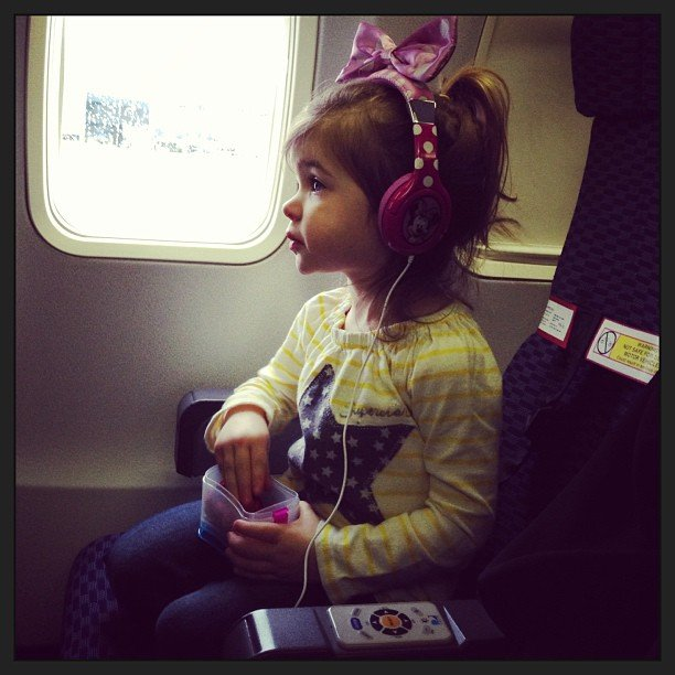Harper Smith was ready for takeoff like the experienced traveler she is! Source: Instagram user tathiessen