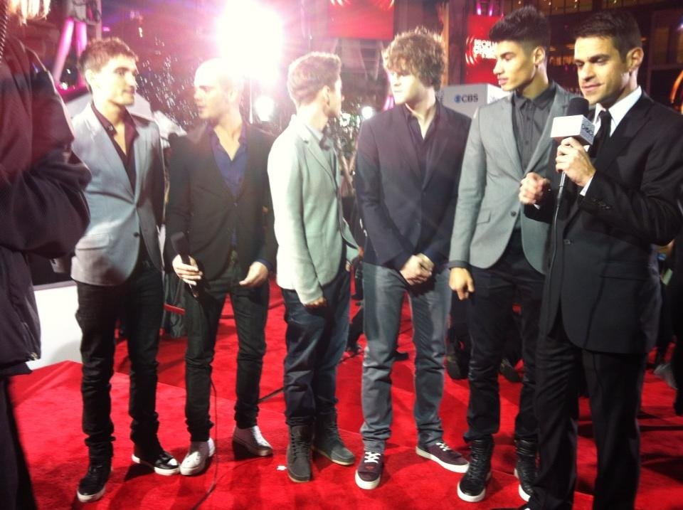 The end result! The Wanted, looking suitable stylish on the red carpet. Source: Twitter user peopleschoice