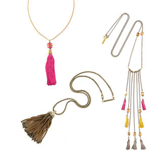 Accessory Trend: Olivia Palermo's Colourful Tassel Necklace