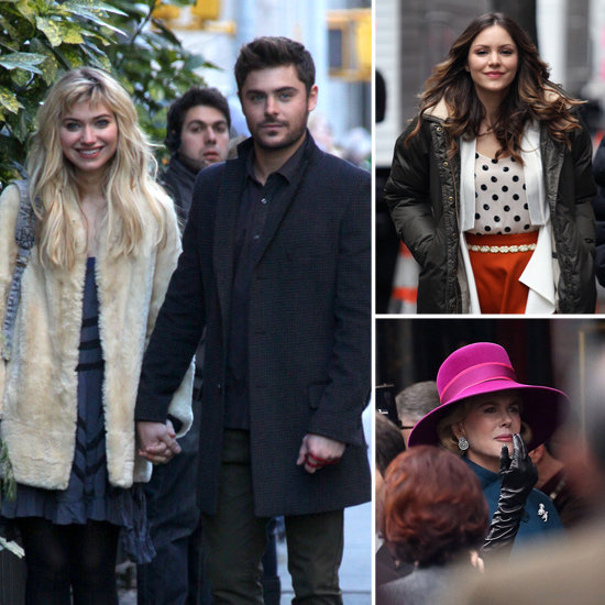 Zac Efron, Nicole Kidman, Katharine McPhee, and More Stars on Set