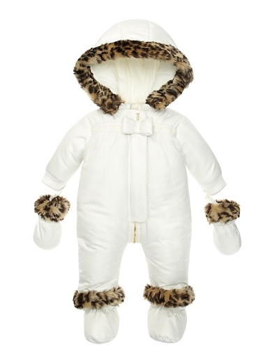 Juicy Couture Leopard Faux Fur Snowsuit