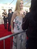 Elle Fanning was looking so pretty in pink Chanel. Source: Twitter user WonderwallMSN
