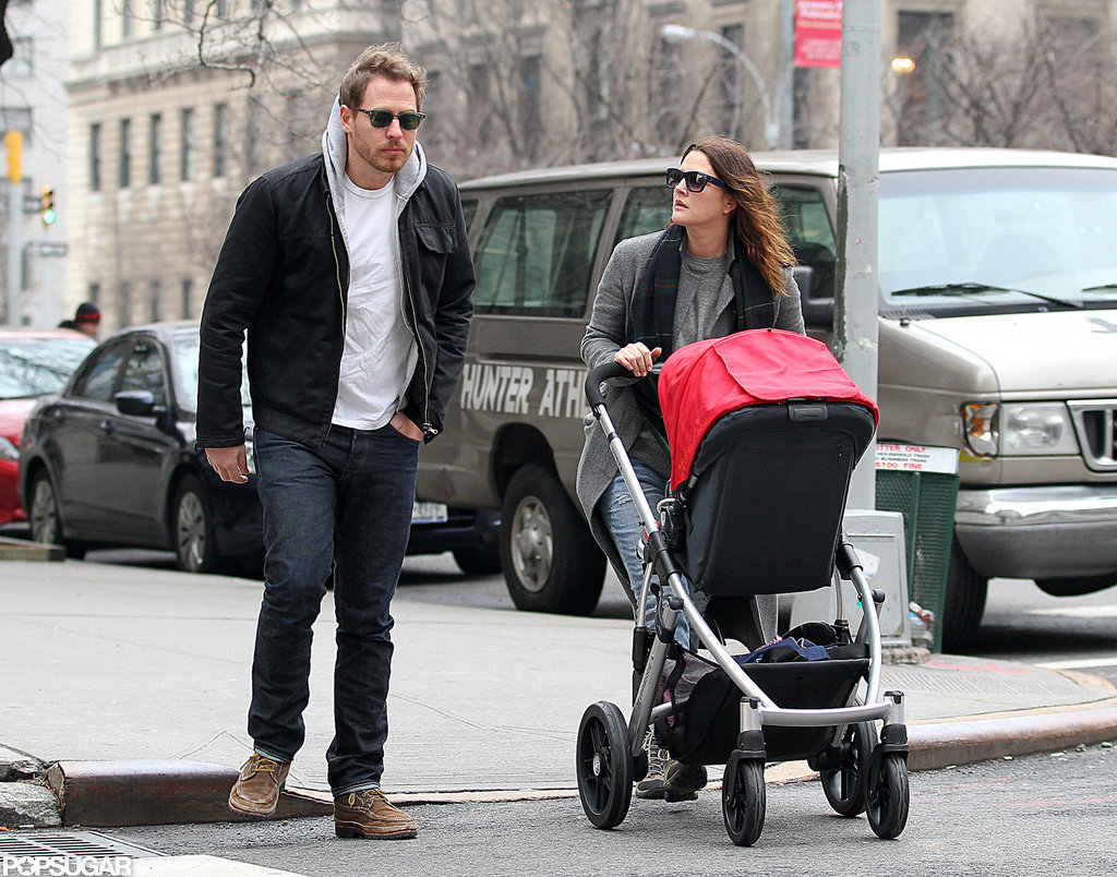 Drew Barrymore, Will Kopelman, and Olive Kopelman did some shopping in the city.