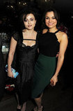 Helena Bonham Carter and Samantha Barks posed for a photo together.