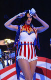 Katy Perry wore a patriotic costume.