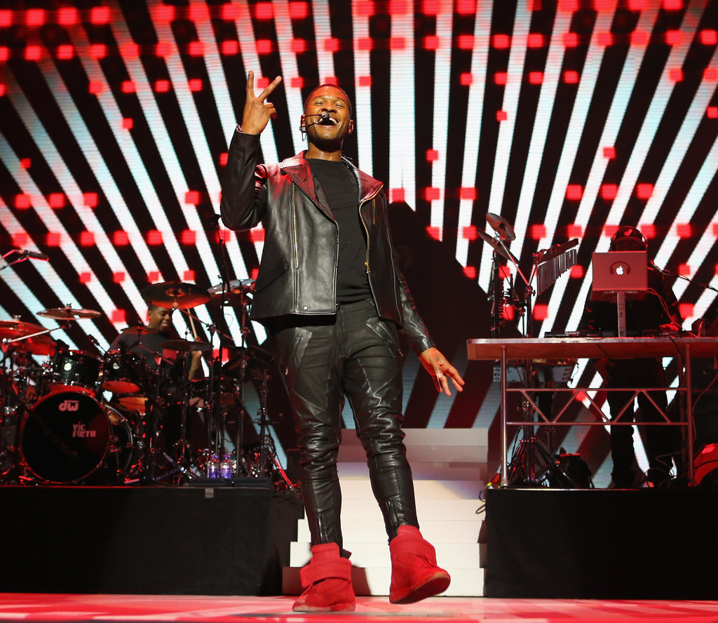 Usher performed at the Kids' Inaugural, a concert to honor military families.