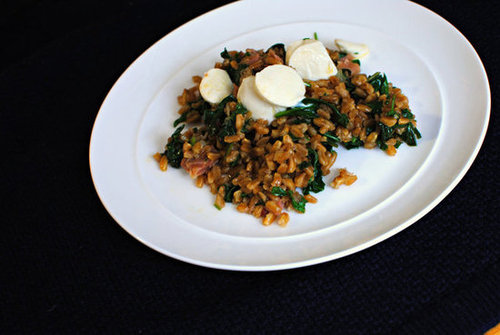 Prosciutto and Spinach Farro Salad