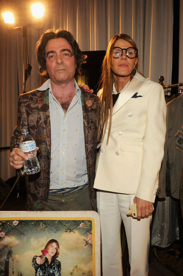 Kean Etro and Anna Dello Russo