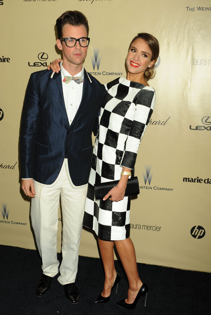 Brad Goreski and Jessica Alba
