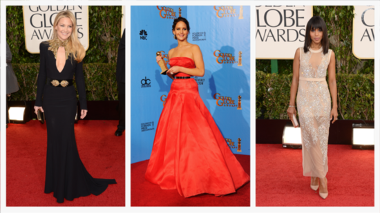 Jennifer Lawrence, Zooey Deschanel, and More Top Golden Globes Beauty Looks
