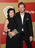 Ewan McGregor arrived with his wife Eve Mavrakis.