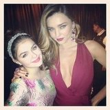 Ariel Winter was excited to meet Miranda Kerr at the InStyle bash. Source: Twitter user arielwinter1