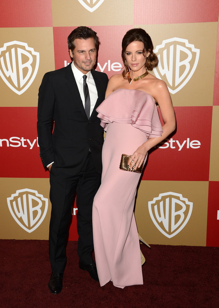 Kate Beckinsale and Len Wiseman on the red carpet.