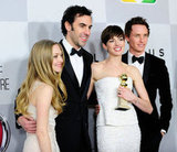 Amanda Seyfried, Sacha Baron Cohen, Eddie Redmaybe, and Anne Hathaway got together for a photo.