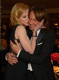 Keith Urban and Nicole Kidman showed PDA inside HBO's party.