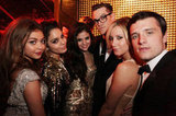 Selena Gomez, Vanessa Hudgens, Sarah Hyland, Ashley Tisdale, and Josh Hutcherson met up at the Weinstein Company afterparty.
