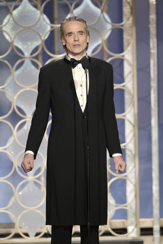 Jeremy Irons presented at the Golden Globes.