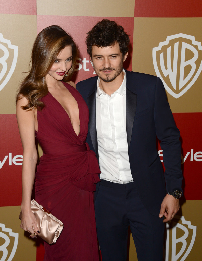 Miranda Kerr and Orlando Bloom showed up as a pair.