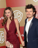 Orlando Bloom and Miranda Kerr held hands.