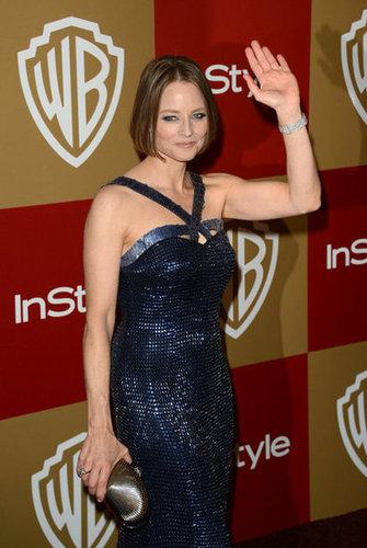 Jodie Foster gave a wave.