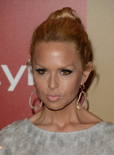 Rachel Zoe sported dramatic earrings.