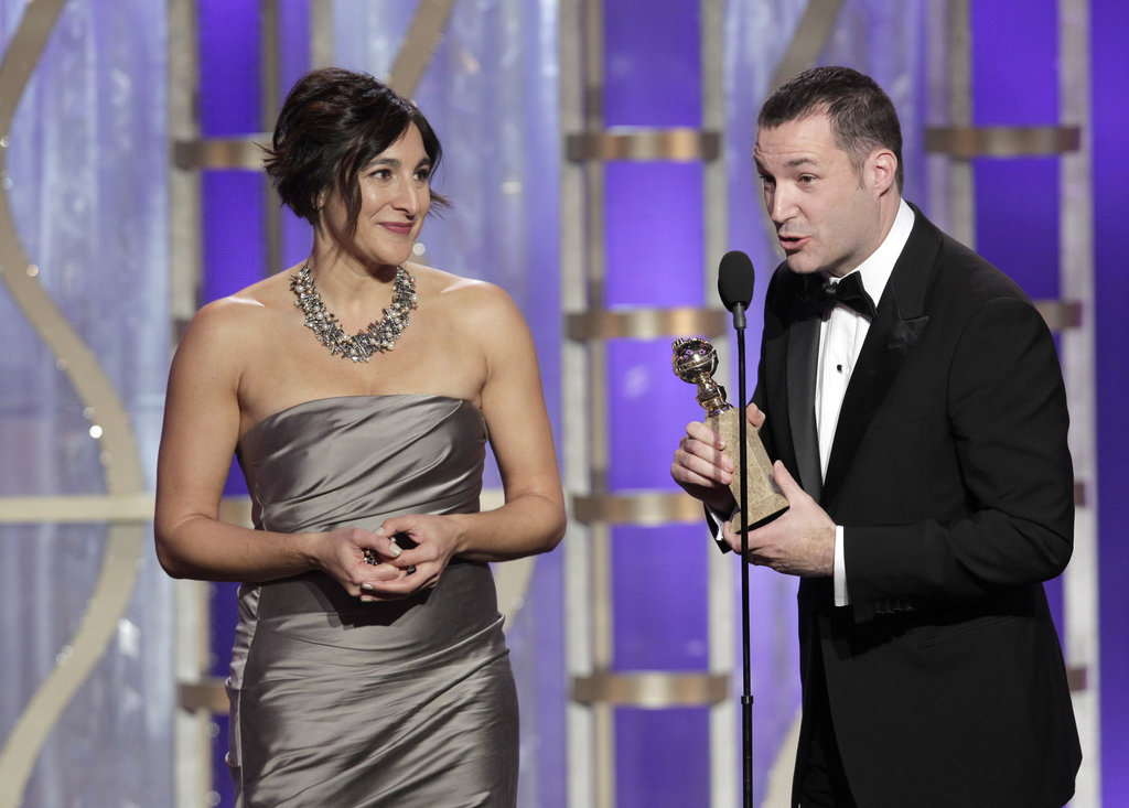 Mark Andrews did the talking while accepting the award for best animated feature film for Brave.