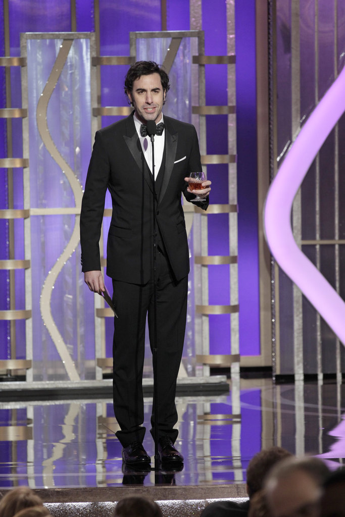 Sacha Baron Cohen presented Les Misérables.