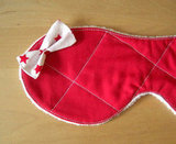 Here's a supercute and cozy quilted eye mask ($18) that's adorned with a petite bow. An inside layer of flannel helps block any bothersome light when sleeping.
