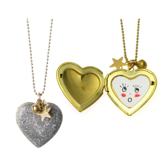 Sparkle Heart Locket