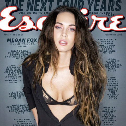 Megan Fox Esquire Magazine Pictures in a Bra