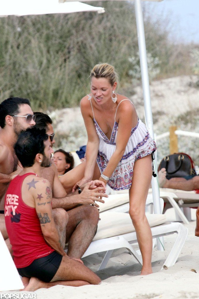 Kate hung out with Marc Jacobs and other friends on the Spanish island of Formentera during an August getaway in 2008.