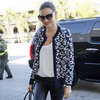 Miranda Kerr Wearing Black and White at LAX