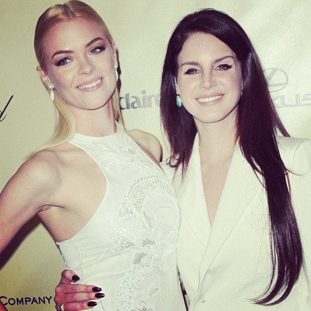 Jaime King and Lana Del Rey hit the Weinstein Company afterparty following the Golden Globes. Source: Instagram user lanadelrayofficial