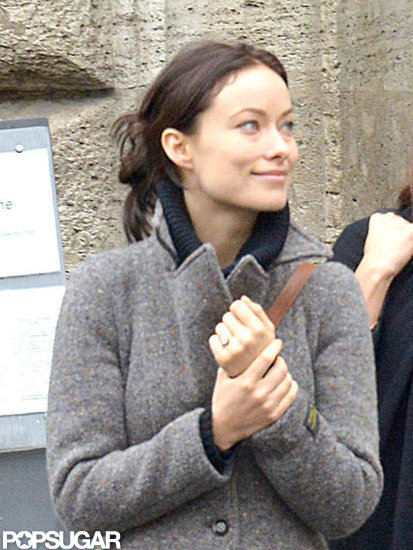 Olivia Wilde showed off her engagement ring while touring Rome after she and Jason Sudeikis got engaged around the holidays.