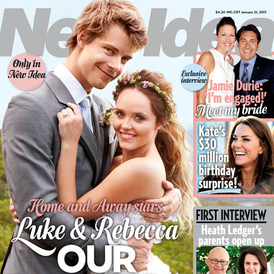 Luke Mitchell and Rebecca Breeds Wedding Pictures New Idea