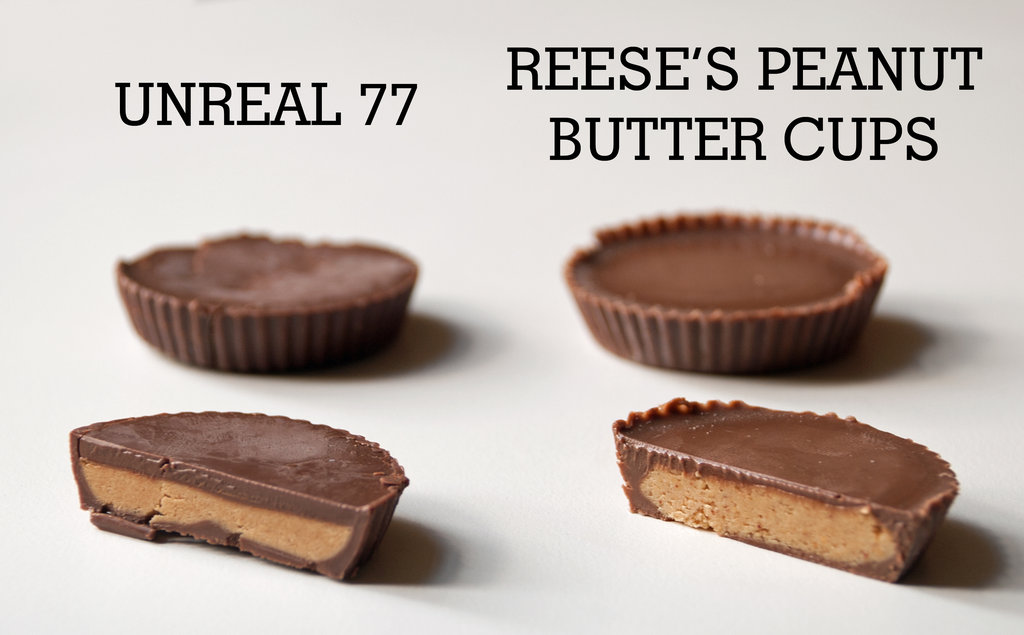 Unreal 77 Peanut Butter Cups vs. Reese's Peanut Butter Cups