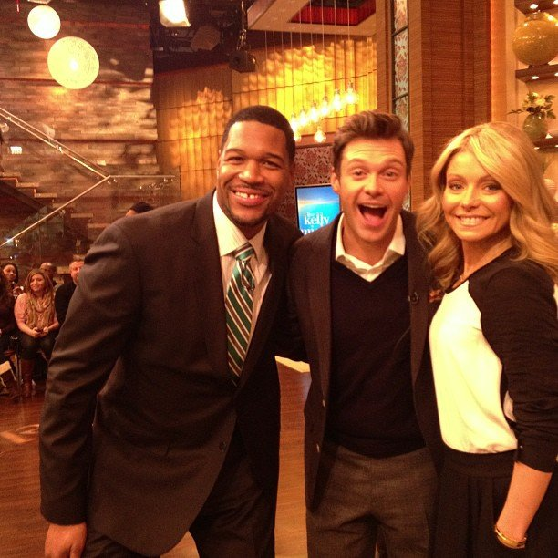 Ryan Seacrest teamed up with Michael Strahan and Kelly Ripa to form a super host team. Source: Instagram user ryanseacrest