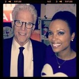 Ted Danson and Aisha Tyler had a CSI reunion. Source: Instagram user aishatyler