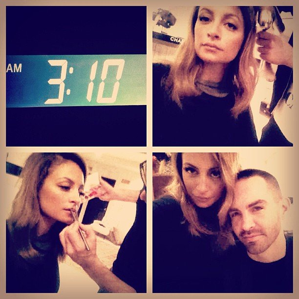 Nicole Richie had an early morning. Source: Instagram user nicolerichie