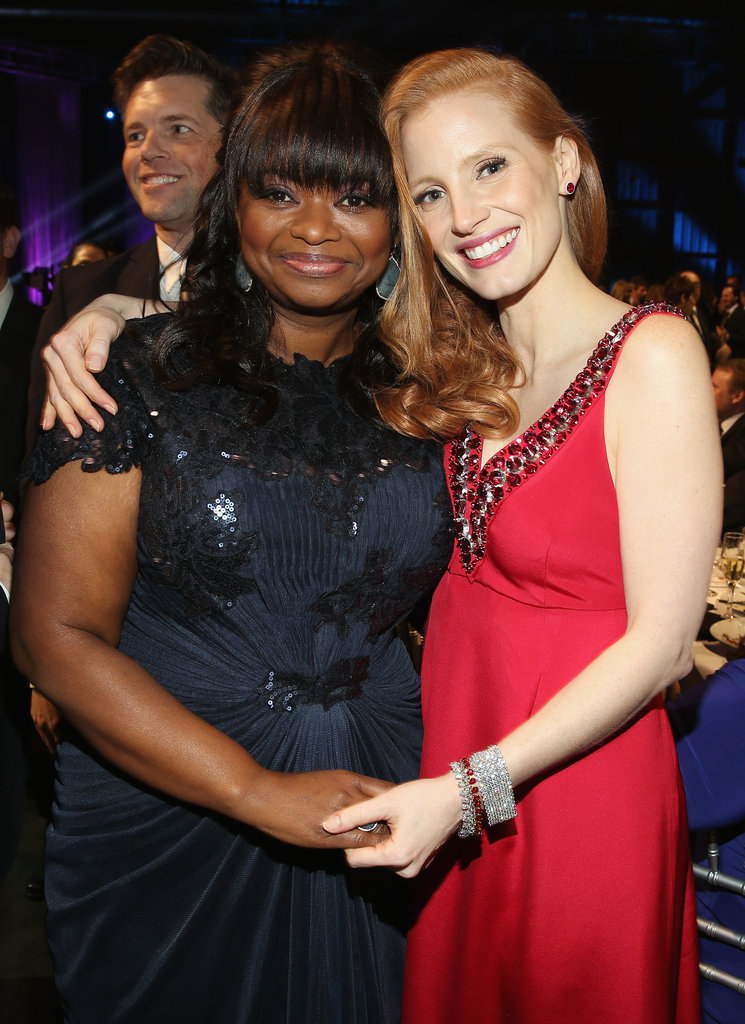 Jessica Chastain and Octavia Spencer had a Help reunion at the Critics' Choice Awards.