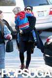 Gwen Stefani took Zuma Rossdale to school.