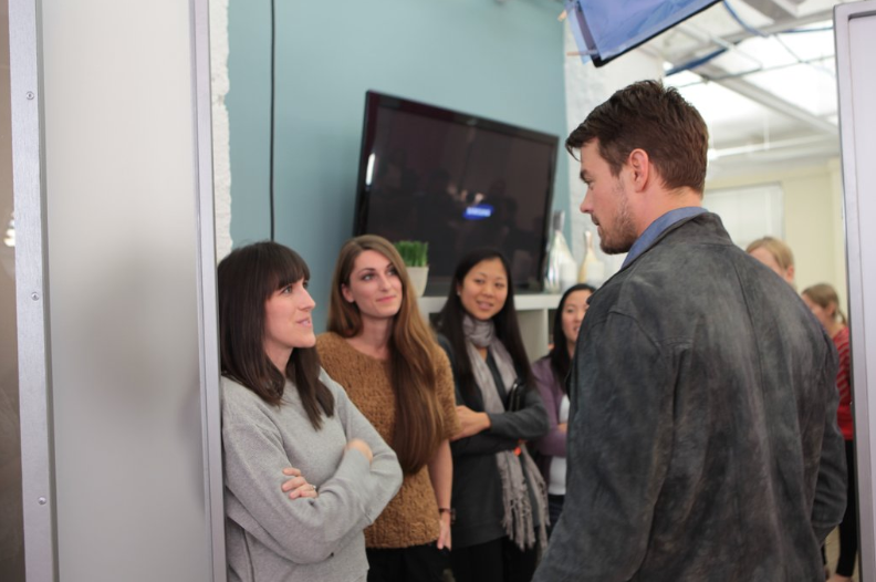 Josh Duhamel and Nicholas Sparks Make a Surprise Visit to POPSUGAR SF