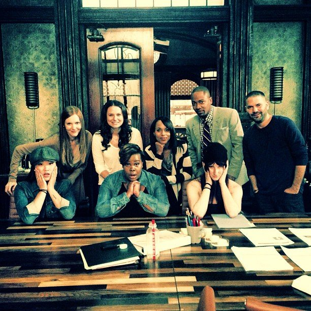 The casts of Glee and Scandal collided! Source: Instagram user jennaushkowitz